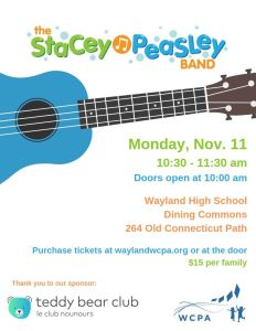 WCPA Kids' Concert: The Stacey Peasley Band @ Wayland High School Commons