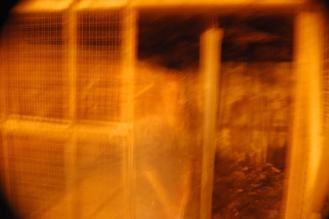 The cages underneath the parking deck between Chestnut and Broad on Sixth Street. (Photo: Lewis Atchison Jr.)