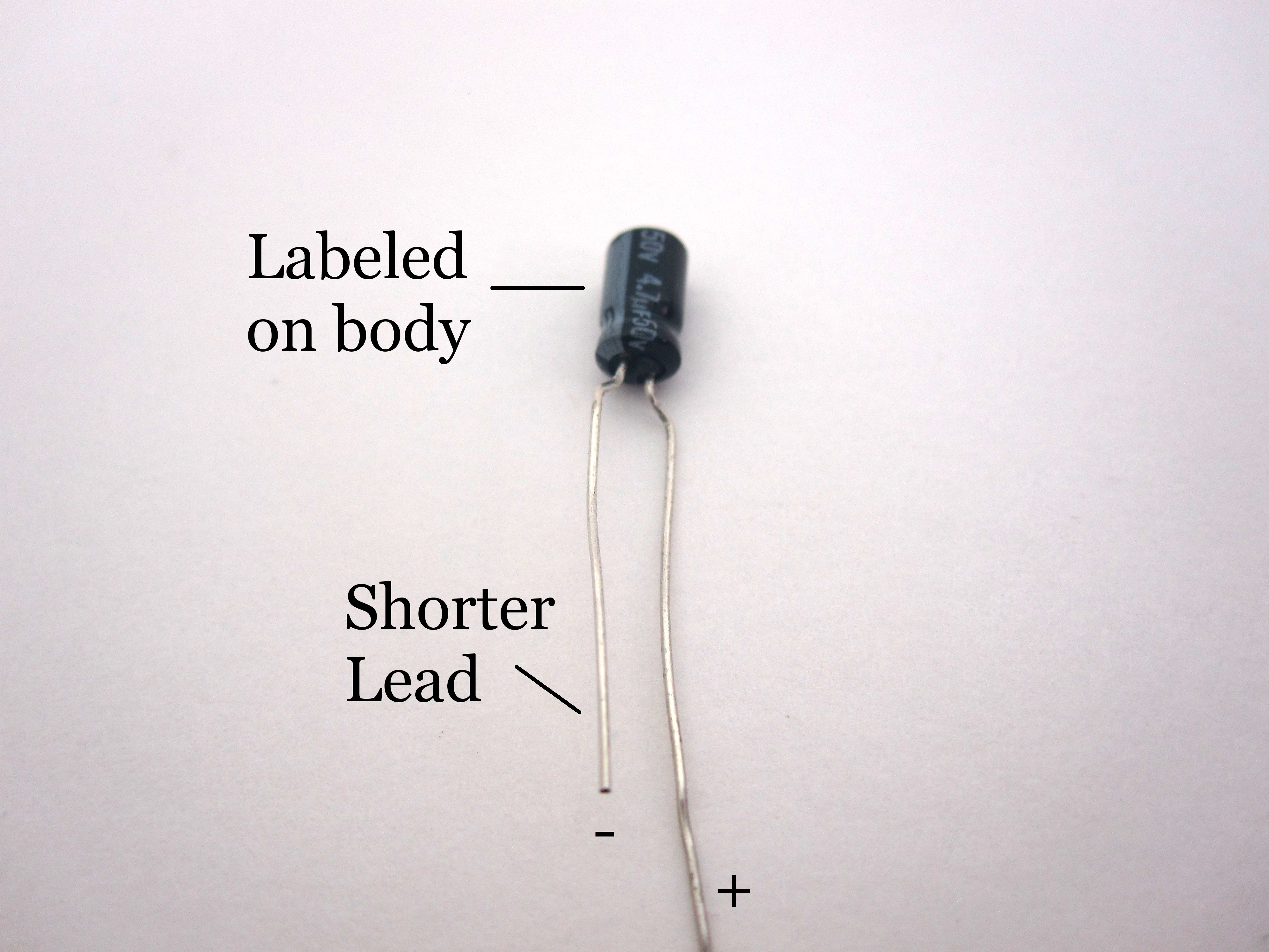 Polarized Capacitor Symbol