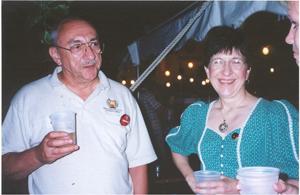 Herman and Sally celebrating Oktoberfest 2001