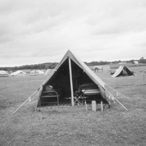 Summer Camp Home of Troop 38 Scoutmaster Jerry Lloyd - Ready for inspection.