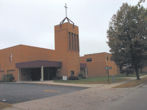 Entrance to the Waynedale United Methodist Church, October 20, 2004.