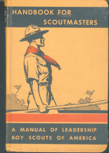 1942 Handbook for Scoutmasters-A Manual of Leadership - Boy Scouts of America books were donated to the scouts by Mr. Specht.