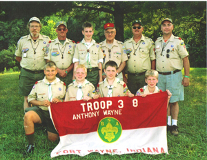 BOY SCOUT TROOP 3(SPACE)8 TAKES SUMMER CAMP BY STORM – EARNS