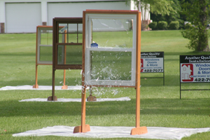 This window was one of many targets for Golf Pro John Daly to smash on the driving range during the Mad Anthonys Children's Charity Classic Golf event held at Sycamore Hills Golf Club.
