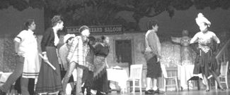"""""""WHO DONE IT"""" - Students at Wayne High School performing the Western drama, """"Who Done It."""" The play was held at Wayne Auditorium last weekend on November 11 & 12, 2011. The drama club also held a fundraiser to support future endeavors."""
