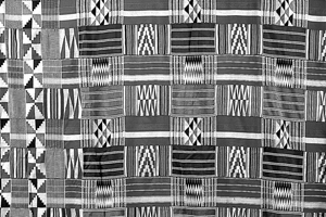 Traditional kente cloth is known for its brilliant colors and geometric designs.