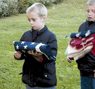 WAYNEDALE SCOUTS HELD FLAG RETIREMENT CEREMONY