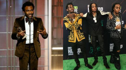 Donald Glover, Migos image courtesy of iHeartRadio