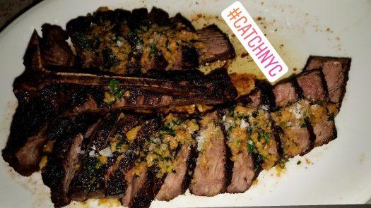 Catch Porterhouse steak drizzled in truffle herb butter