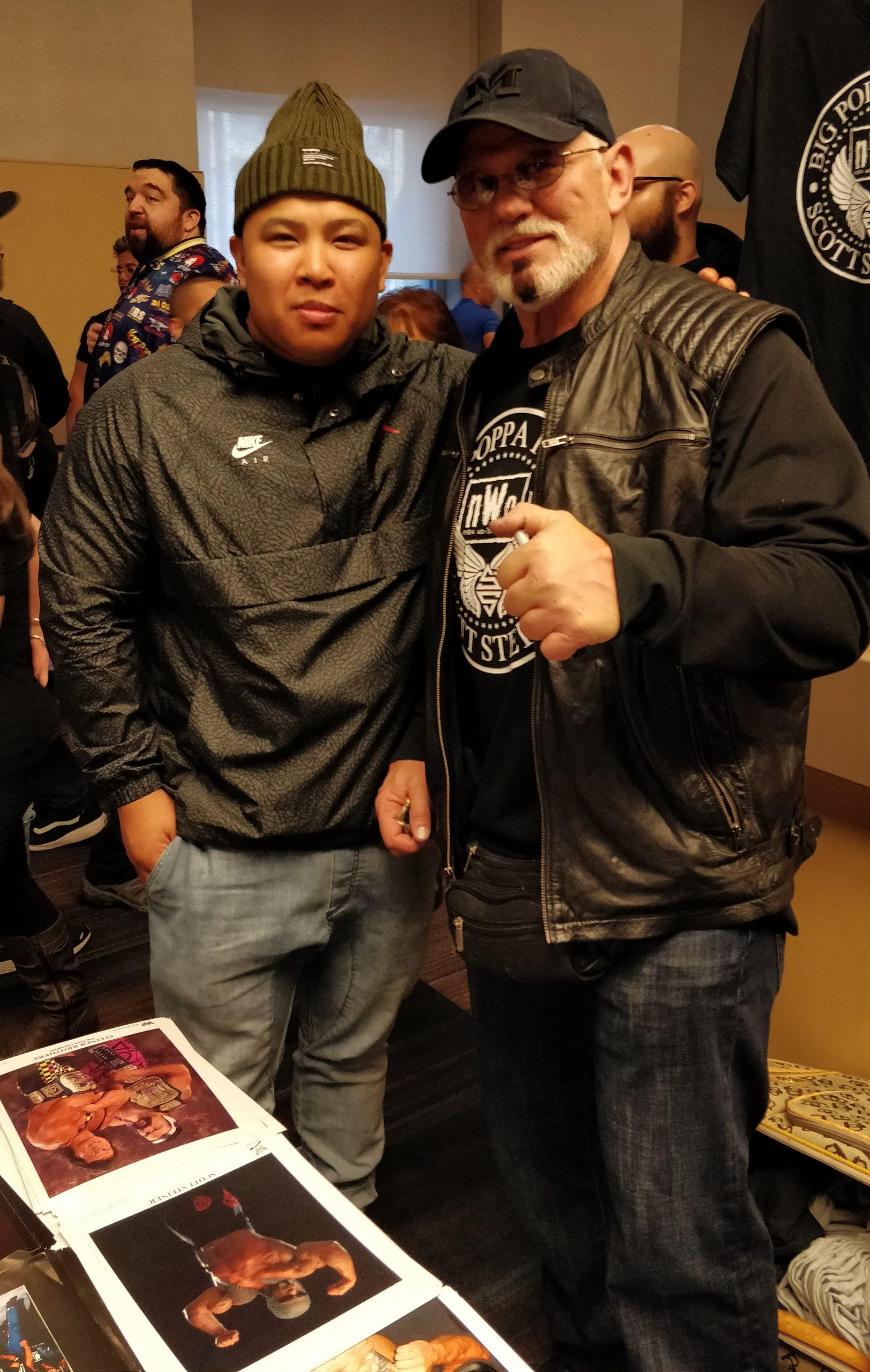 Wayne Lapasa with Scott Steiner at WrestleCon New York