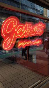 Garrett popcorn shop signage
