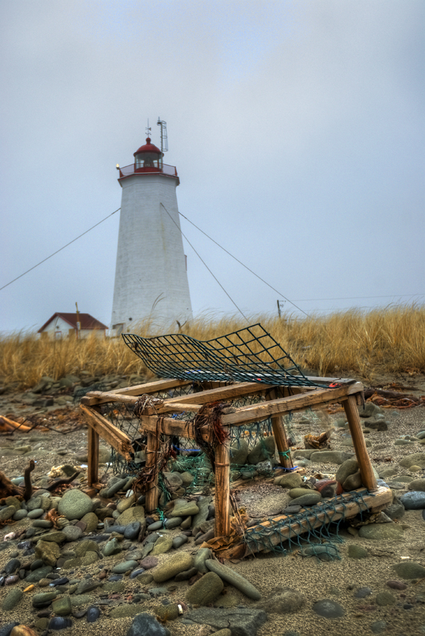 Lighthouse at the tip of Miscou Island, New Brunswick