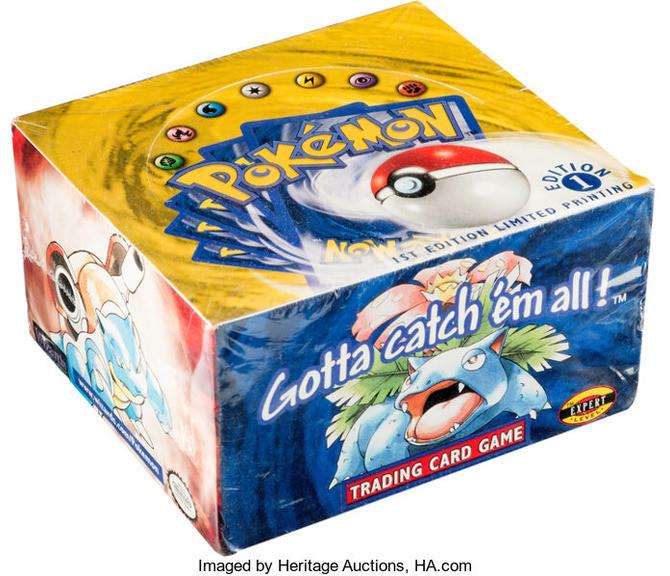 未開封的《寶可夢卡牌盒》在國外拍賣,以美金40.8萬美金成交