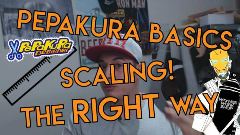 YouTube Pepakura Basics Scaling And How To