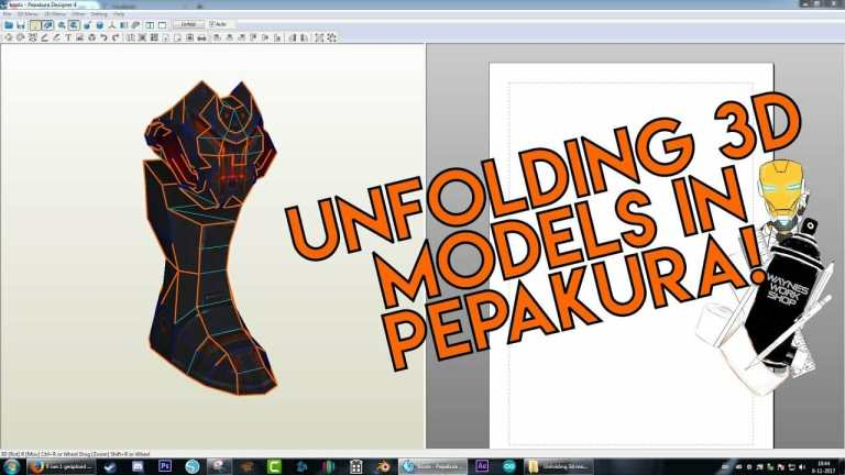 YouTube Unfolding D Models In Pepakura