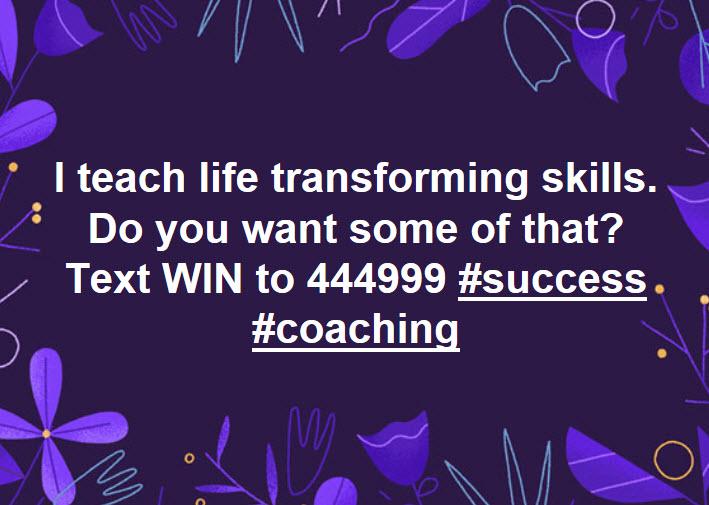 i teach life transforming skills
