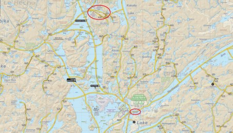 The route from Jeffsmap.com