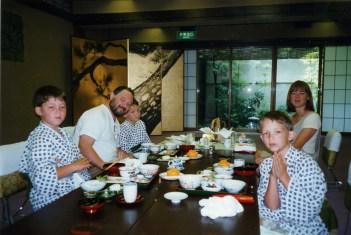 Birthday dinner at the Riokan