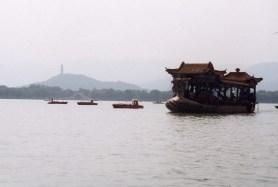 Boats on lake