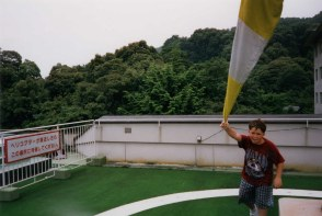Swinging the flag