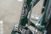 Mexican Benotto head badge and rod brake detail.