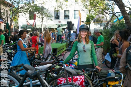 CycleMAYnia 2014. Lots of bikes and people.