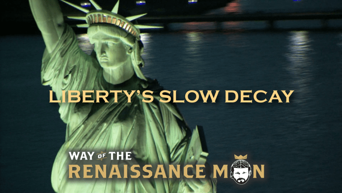 LIBERTY'S SLOW DECAY David Hume Title Way of the Renaissance Man Starring Jim Woods