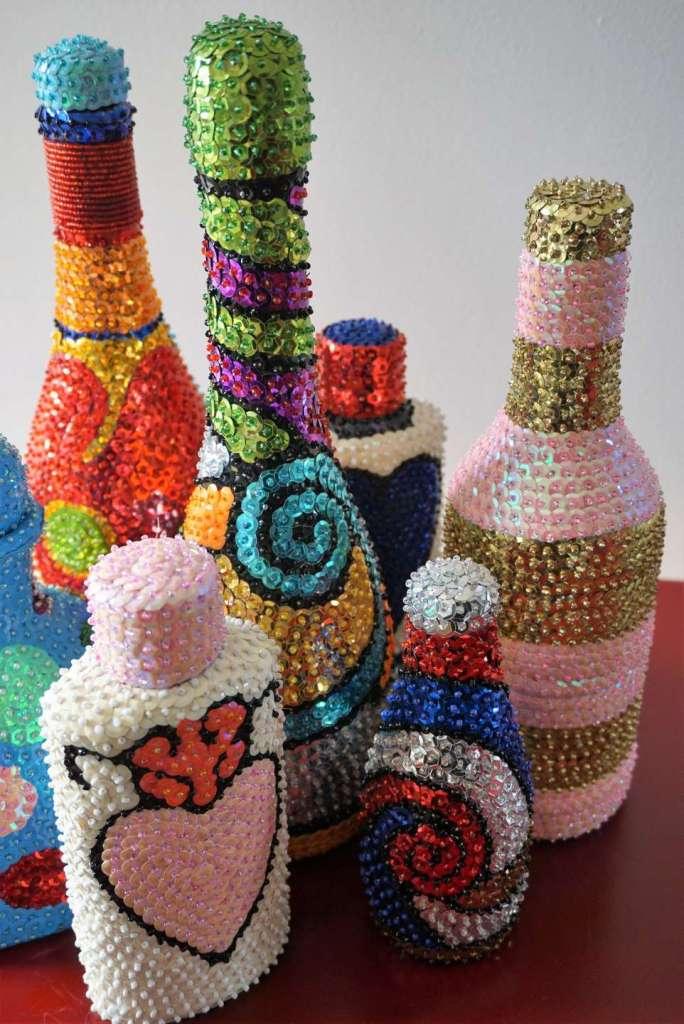 bouteilles vaudou en pied