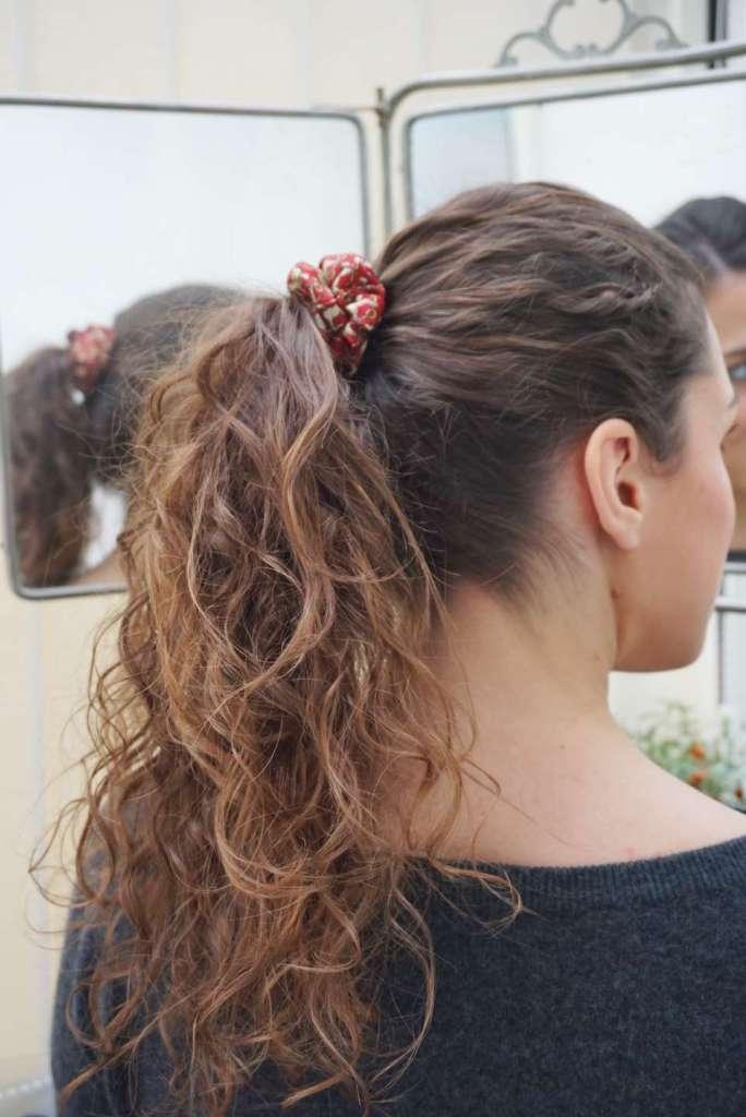 coiffure queue de cheval chouchou