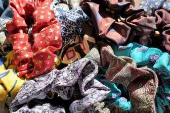 Wayome Upcycling chouchous par dizaine zoom violet