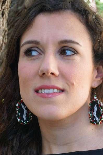 Wayome Upcycling des boucles d'oreilles fabriquées avec des rubans regard gauche arbre