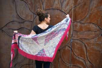 Wayome Upcycling foulard rose fushia