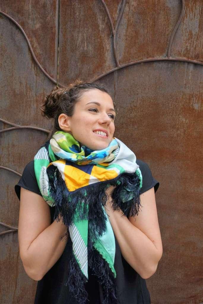 foulard vert d'eau zoom original