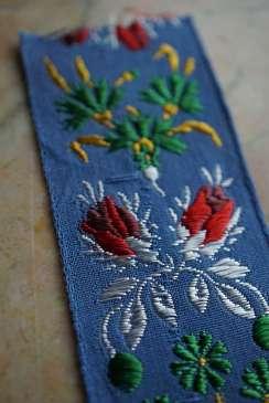 Wayome Upcycling rubans en soie bleu