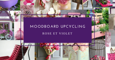 Wayome Upcycling moodboard upcycling rose et violet image une