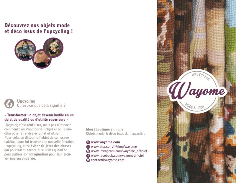 Wayome Upcycling découvrez la plaquette wayome face extérieure