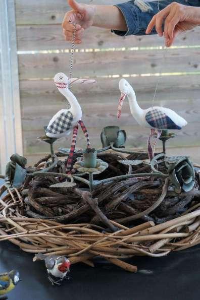Wayome upcycling des cigognes qui se balancent nid droit
