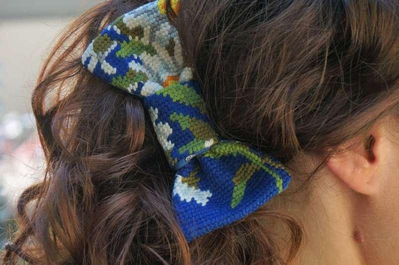 Wayome upcycling Nœud papillon masculin féminin dans cheveux