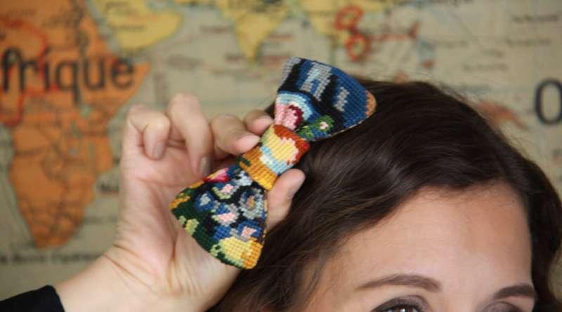 Wayome upcycling un noeud papillon original pour un mariage image une