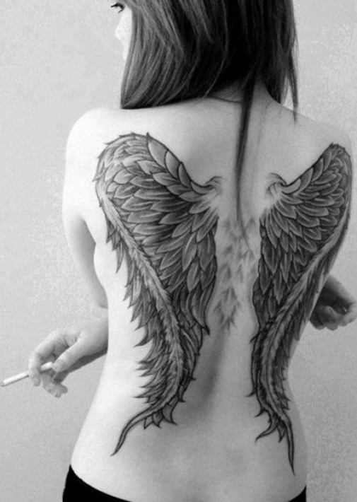 Angel-Wings-Tattoo-on-Back