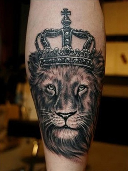 Lion King with Crown tattoo