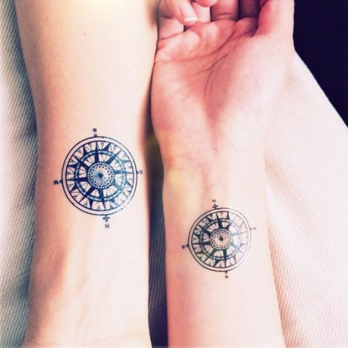 compass tattoo design 17