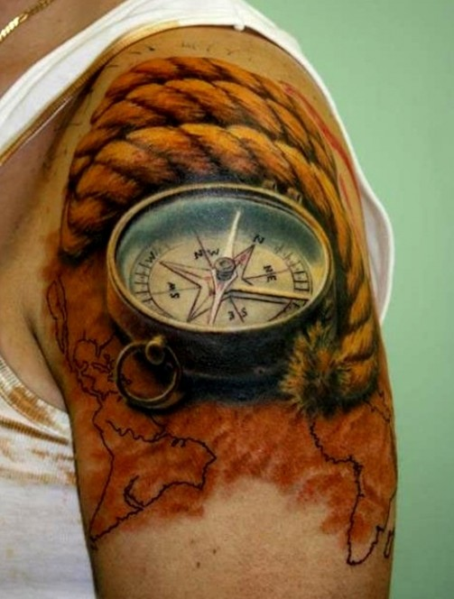 compass-tattoo-designs-7