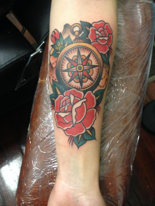 compass tattoo10