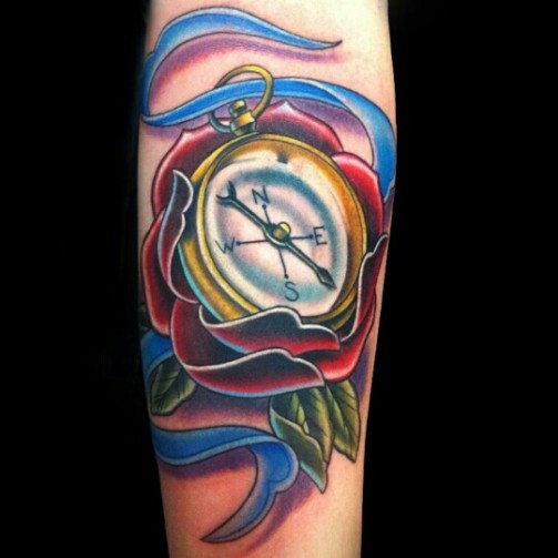 compass tattoo14