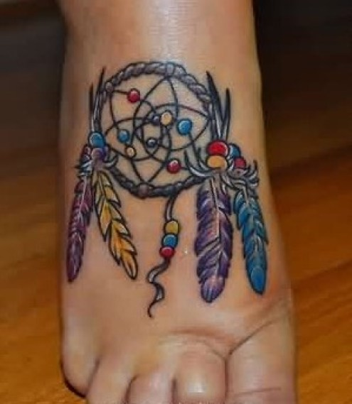 elegant-dream-catcher-tattoo-on-foot11