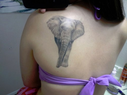 elephant tattoo 12