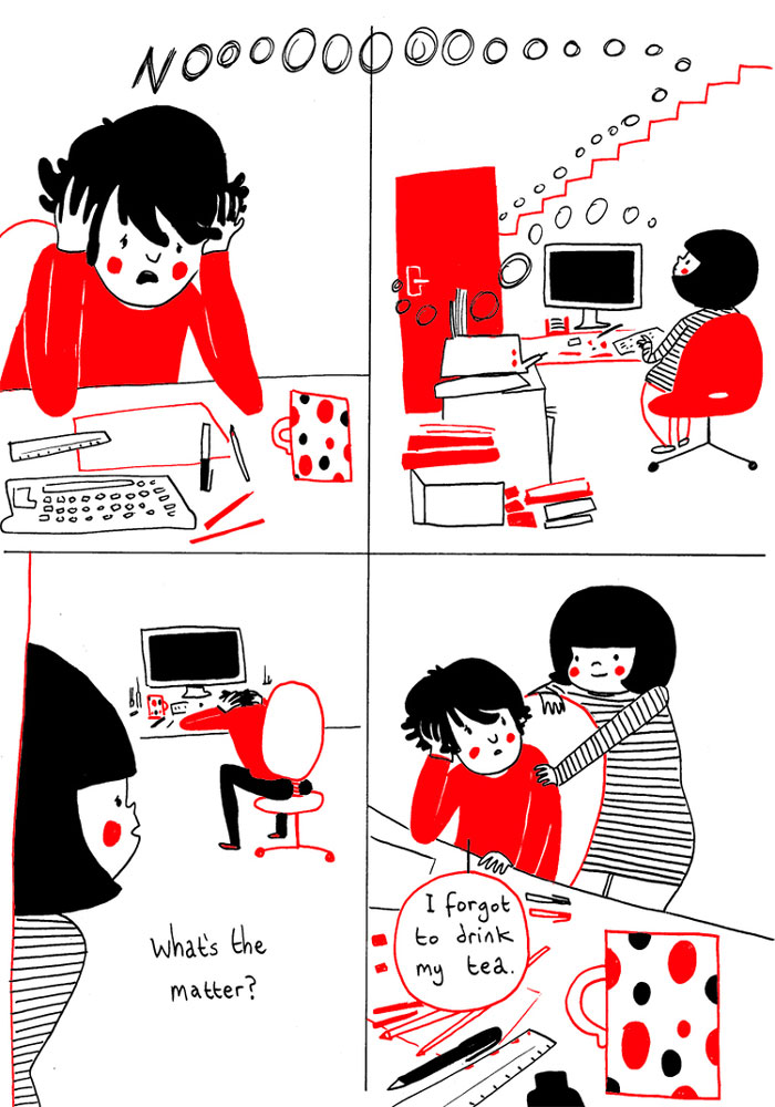 Beautiful Illustrations of living with someone you love (24 Photos)