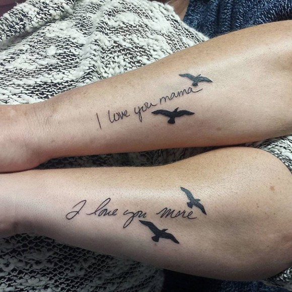 41 Mother Daughter Tattoos Ideas and Design